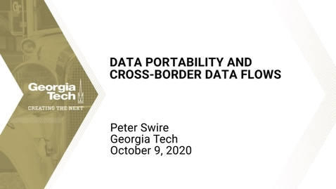 Thumbnail for entry Peter Swire - Data Portability and Cross-Border Data Flows