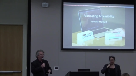 Thumbnail for entry GVU Distinguished Alum Brownbag Speaker: Fabricating Accessibility