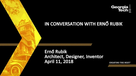 Thumbnail for entry In Conversation with Ernő Rubik - Ernő Rubik