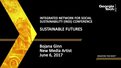 Thumbnail for entry Sustainable Futures - Bojana Ginn