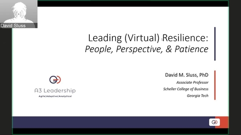 Thumbnail for entry Leading (Virtual) Resilience People, Perspective & Patience