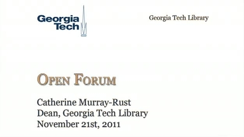 Thumbnail for entry 11-21-2011 Library Open Forum