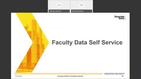 Thumbnail for entry Introduction to Employee Self-Service and Faculty Self-Service -- Faculty Data Self-Service