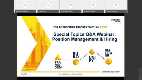 Thumbnail for entry Special Topics Webinar:  Position Management & Hiring-04/30/2020