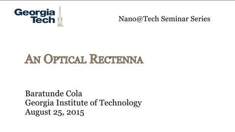 Thumbnail for entry An Optical Rectenna - Baratunde Cola