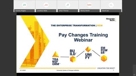 Thumbnail for entry Edited - OneUSG Connect Pay Changes Webinar