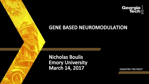 Thumbnail for entry Gene Based Neuromodulation - Nicholas Boulis