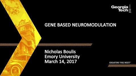 Thumbnail for entry Gene Based Neuromodulation - Nicholas Boulis