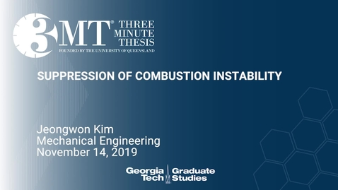 Thumbnail for entry Jeongwon Kim - Suppression of Combustion Instability