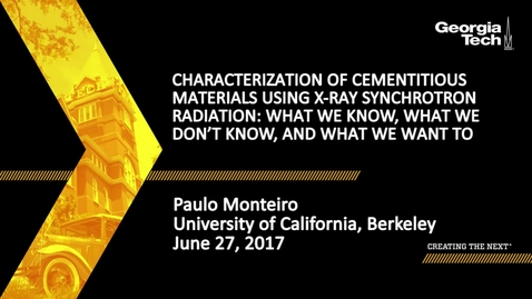 Thumbnail for entry Characterization of cementitious materials using X-ray synchrotron radiation: What we know, what we don't know, and what we want to know - Paulo Monteiro