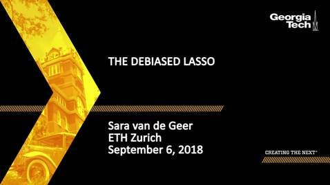Thumbnail for entry Sara van de Geer - The Debiased Lasso