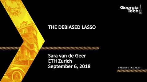 Thumbnail for entry Sara van de Geer - The Debiased Lasso