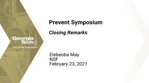 Thumbnail for entry Prevent Symposium - Closing Remarks