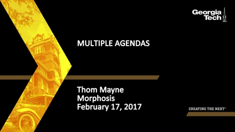 Thumbnail for entry Multiple Agendas - Thom Mayne