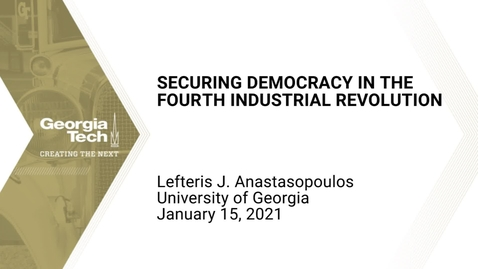 Thumbnail for entry Lefteris Anastasopoulos - Securing Democracy in the Fourth Industrial Revolution