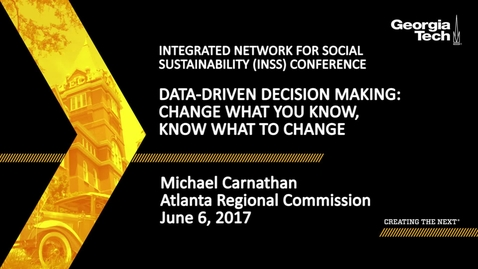 Thumbnail for entry Data-Driven Decision Making: Change what you know, know what to change - Michael Carnathan