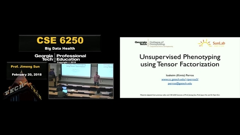 Thumbnail for entry Unsupervised Phenotyping using Tensor Factorization - Ioakeim Perros