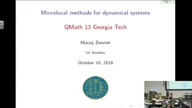 Thumbnail for entry Microlocal Methods in Dynamical Systems - Maciej Zworski