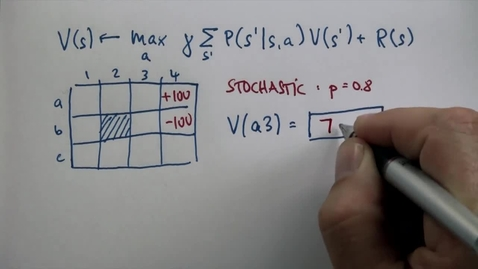 Thumbnail for entry CS6601_10. Planning under Uncertaint_Stochastic Question 1_ANS