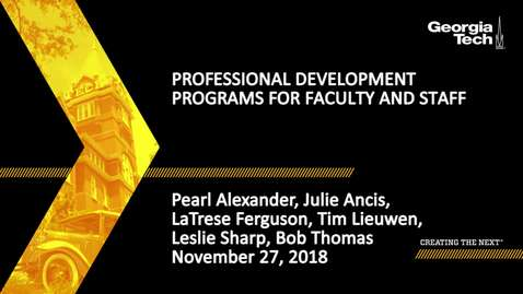 Thumbnail for entry Professional Development Programs for Faculty and Staff
