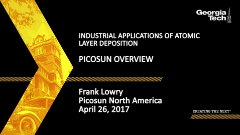 Thumbnail for entry Picosun Overview - Frank Lowry
