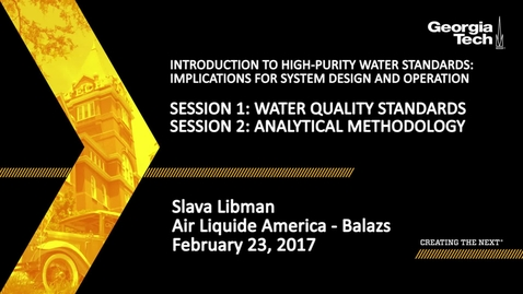 Thumbnail for entry Water Quality Standards and Analytical Methodology - Slava Libman