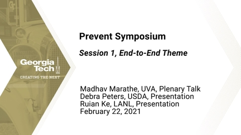 Thumbnail for entry Prevent Symposium - Session 1, End-to-End Theme