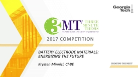 Thumbnail for entry Battery Electrode Materials: Energizing the Future - Krysten Minnici