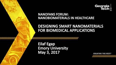 Thumbnail for entry Designing Smart Nanomaterials for Biomedical Applications - Eilaf Egap