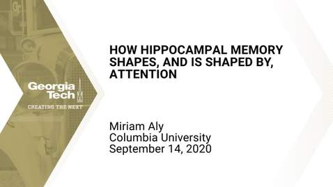 Thumbnail for entry Mariam Aly - How hippocampal memory shapes, and is shaped by, attention