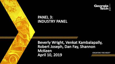 Thumbnail for entry 2019 SBDH All Hands Meeting - Panel 3: Industry Panel