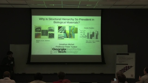 Thumbnail for entry Why is Structural Hierarchy So Prevalent in Biological Materials? - Jonathan Michel