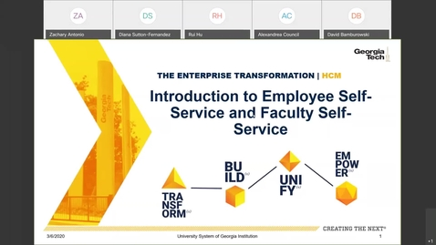Thumbnail for entry Introduction to Employee Self-Service and Faculty Self-Service 03.06.20