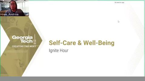Thumbnail for entry Self-Care & Well-Being