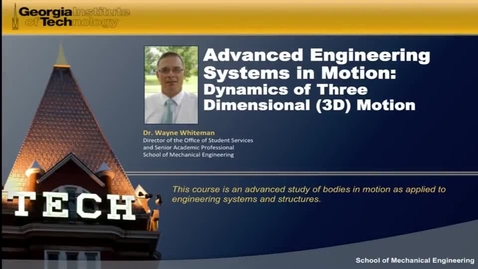 Thumbnail for entry Advanced Engineering Systems in Motion First Video
