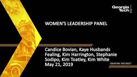 Thumbnail for entry Women's Leadership Panel