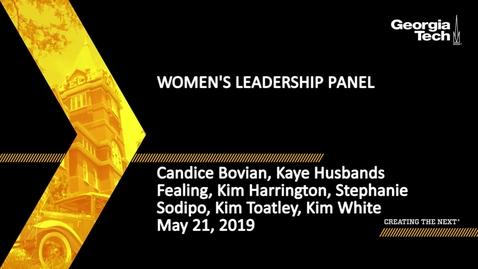 Thumbnail for entry Women's Leadership Panel