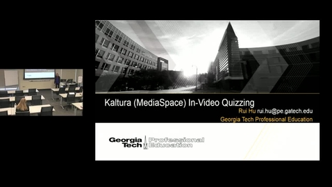 Thumbnail for entry New Tool Showcase - Kaltura In-Video Quizzing