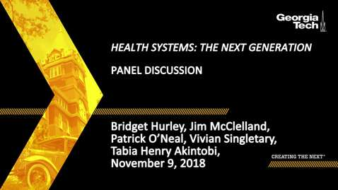 Thumbnail for entry Bridget Hurley, Jim McClelland, Patrick O'Neal, Vivian Singletary, Tabia Henry Akintobi - Panel Discussion