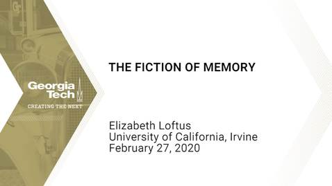 Thumbnail for entry Elizabeth Loftus - The Fiction of Memory