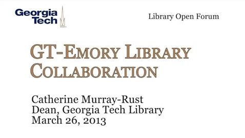 Thumbnail for entry 3-26-2013 Library Open Forum