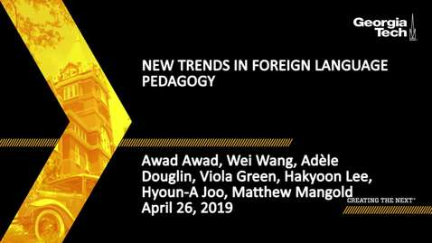 Thumbnail for entry New Trends in Foreign Language Pedagogy