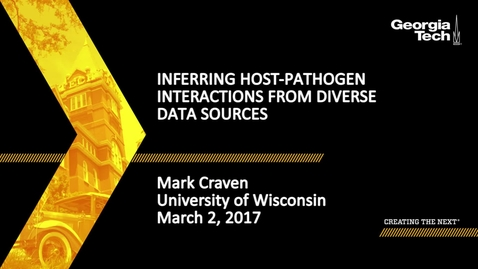 Thumbnail for entry Inferring Host-Pathogen Interactions from Diverse Data Sources - Mark Craven