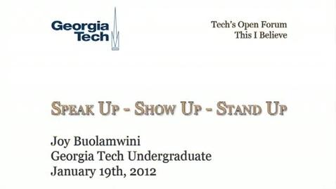 Thumbnail for entry Show Up - Speak Up - Stand Up - Joy Buolamwini