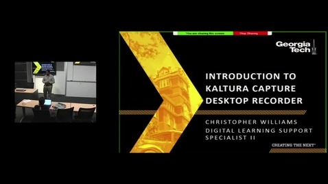 Thumbnail for entry Creating and Delivering Videos with Kaltura Personal Capture