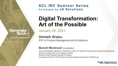 Thumbnail for entry Digital Transformation: Art of the Possible
