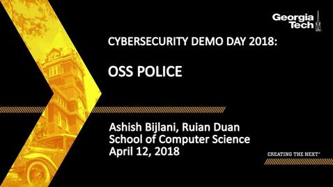 Thumbnail for entry Ashish Bijlani, Ruian Duan - OSS Police