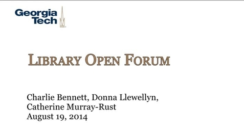 Thumbnail for entry 8-19-2014 Library Open Forum