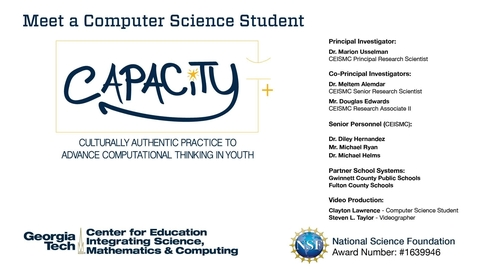 Thumbnail for entry Clayton Lawrence - Meet a Computer Science Student