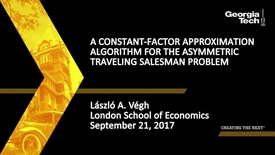 Thumbnail for entry A constant-factor approximation algorithm for the asymmetric traveling salesman problem - László A. Végh